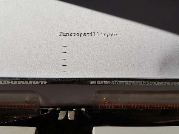 Punktopstillinger - 8 regler, alle seriøse tekstforfattere skal kende